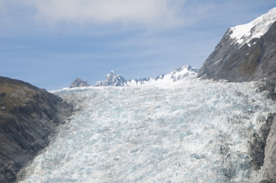 Fox Glacier with Blue Sky