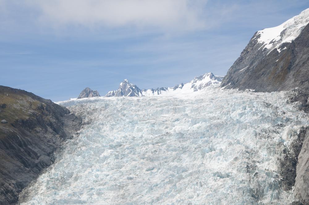 Fox Glacier with Blue Sky