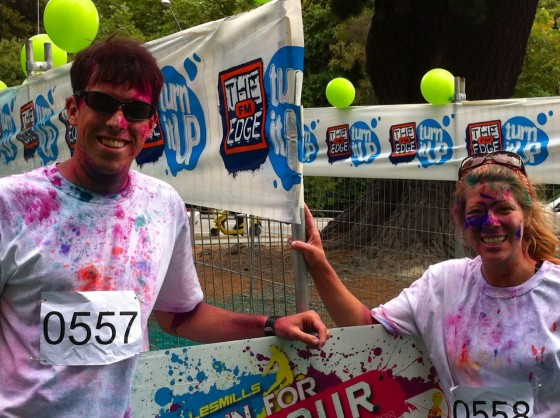 The end of the colour run