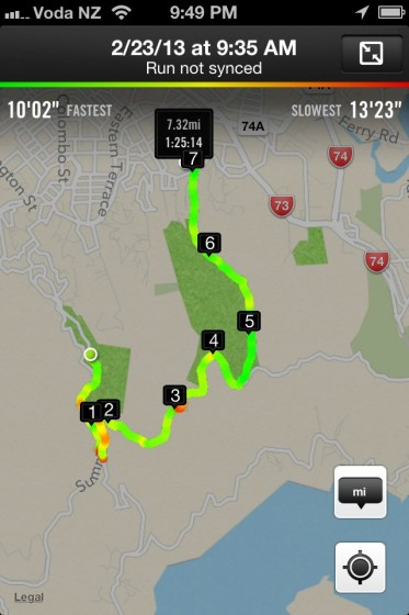 Our Nike+ Run Map