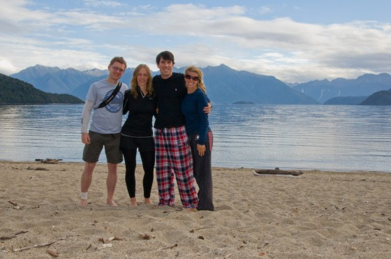 Looking stylish at Lake Manapouri