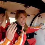 Evan and Morgan skydive