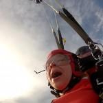 Morgan and parachute
