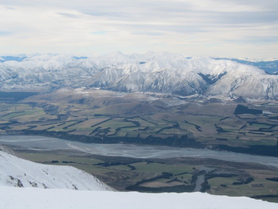 From the top of Mt. Hutt