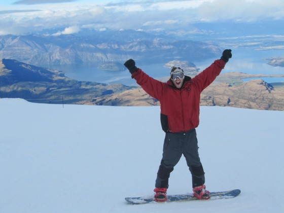 Scott on top of the world!