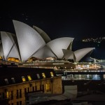 Opera House lit up at Night