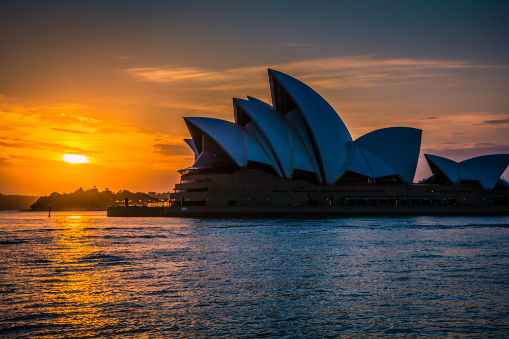 Sunrise over the Opera House
