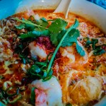 Evan's laksa dinner at the Malaya