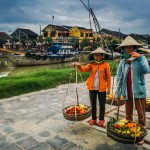 Locals along the riverfront, Hoi An, Vietnam